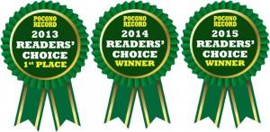 Readers Choice Award 3 Years in a Row